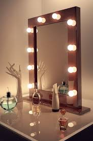 Mirror With Light Bathroom Top Vanity Makeup Mirror With Light Bulbs Home Design