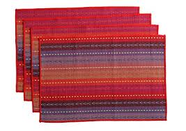 large plastic table mats amazon com wood meets color cotton table placemats woven braided