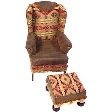 southwestern chairs and ottomans mesmerizing wingback chair with ottoman southwestern chair with