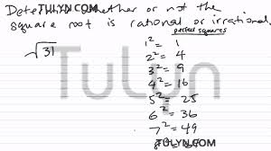 Estimating Square Roots Worksheet Determining If The Square Root Is Rational Or Irrational 2 Youtube