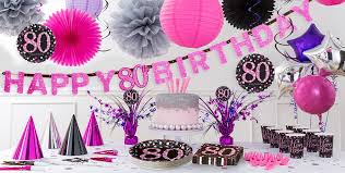cing birthday party pink sparkling celebration 80th birthday party supplies party city