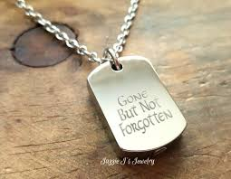 memorial necklace for ashes but not forgotten stainless steel dog tag urn necklace
