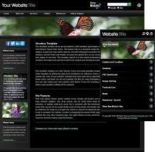 black chrome butterfly website template sample u0026 mobile version