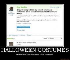 Zorro Costume Halloween 2010 Costume Demotivational Poster