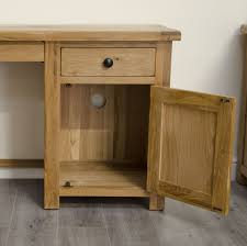 Small Oak Desk With Drawers by Tilson Solid Rustic Oak Furniture Small Computer Desk