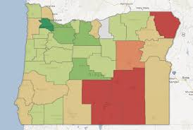 oregon county map map oregon population change the oregonian