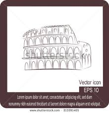 great colosseum rome italy sketch vector stock vector 319248662