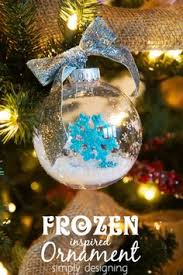 going to decorate the white tree with frozen theme for mila