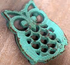 owl trivet cast iron trivet owl kitchen decor antique farmhouse