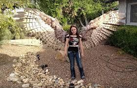 Bird Halloween Costume Whoa Woman Incredible Pneumatic Articulated Bird Wings
