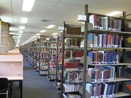 file bookshelves on the top floor of the chifley library jpg