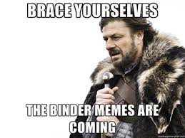Binders Full Of Women Meme - binders full of women becomes big bird moment of second