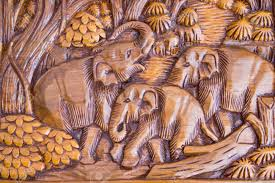 wood carving images elephant wood carving from thailand stock photo picture and