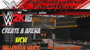 wwe 2k16 create a arena wcw halloween havoc community creations
