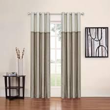 terrific color block curtains linen color black and white panels