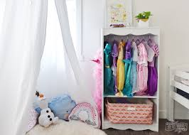 diy dress up storage bookcase hack the diy mommy