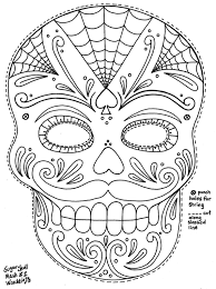 sugar skull coloring pages the sun flower pages