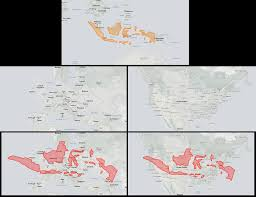 Map Size Comparison The Real Size Of Indonesia Top Indonesia Europe Maps On