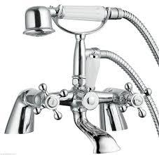 Bristan Thermostatic Bath Shower Mixer Edwardian Traditional Chrome Bath Shower Mixer Tap Classic Ceramic