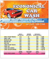 business card design economical car wash of hallandale fl