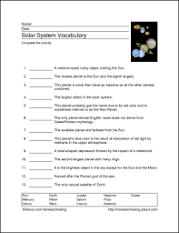 free printable worksheets to teach your child about the solar