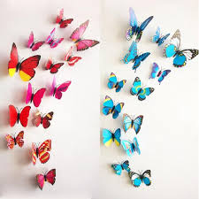 Free shipping 12pcs PVC 3d Butterfly wall decor cute Butterflies