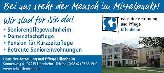Haus Anzeige Uffenheim U2013 Wohnen U0026 Pflege
