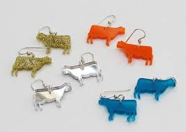 cow tag earrings jewelry cow and more