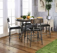 round counter height table set industrial style 45 round counter height table set efurniturehouse