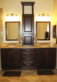 giallo fiorito granite with oak cabinets moen brantford in bathroom traditional with cabinet design next to