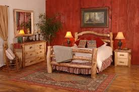 log cabin bedroom set create a cabinesque bedroom with adult cabin log beds woodland