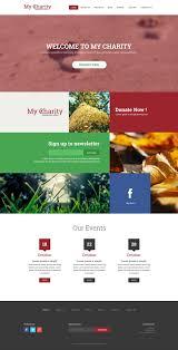 responsive web design psd template charity website psd template