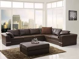 Inexpensive Sectional Sofas by Furniture L Shaped Leather Cheap Sectional Sofas In Dark Brown On