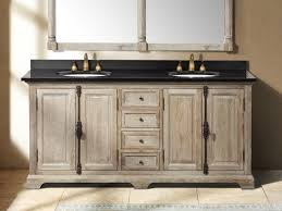 Wooden Vanity Vintage Bathroom With Unfinished Wooden Vanity Cabinet And Four