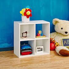 amazon com way basics eco 4 cubby bookcase stackable organizer