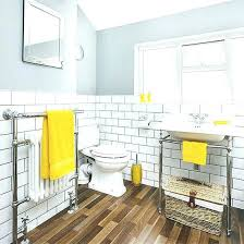 Grey And Yellow Bathroom Ideas Yellow Bathroom Accessories Engem Me