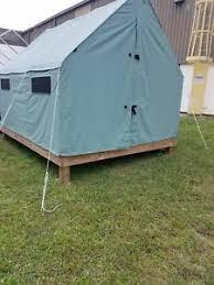 canvas wall tent ebay