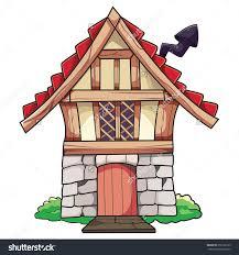 Smallhouse by Old Cartoon Small House Chimney Vector Stock Vector 656763103