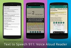 text reader for android text to speech 911 voice aloud reader best android apps