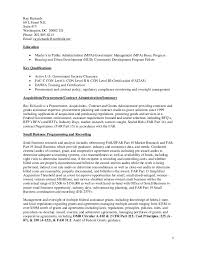 Federal Contract Specialist Resume Ray Richards Cv Resume Federal