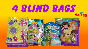 blind bags toys 4 various blind bags my pony soft spots yoohoo and polly