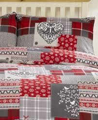 bedding heaven alpine patchwork flannelette duvet cover set