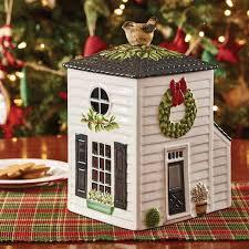 winter birds cookie jar primitive home decors