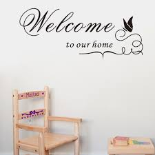 welcome to our home wall stickers home decor living room diy mail