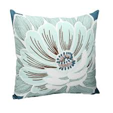 hampton bay charleston flower square outdoor throw pillow 7055