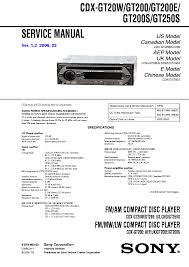 sony cdx gt250s wiring diagram sony wiring diagrams collection