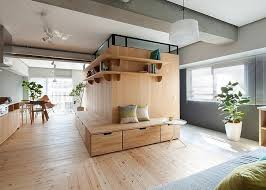 Hardwood Floor Apartment L Shaped Apartment With No Doors In Japan Home Interior