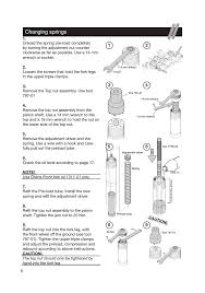 changing springs ohlins fg 670 user manual page 6 28