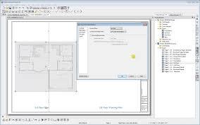 architect plan plan view panel in layout