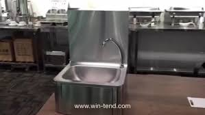restaurant hand washing sink commercial stainless steel knee foot push operated basin hand